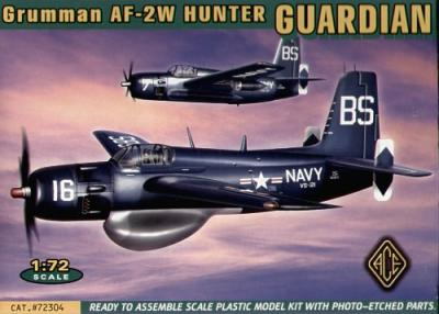 72304 - Grumman Guardian AF-2W Hunter with etched parts 1/72