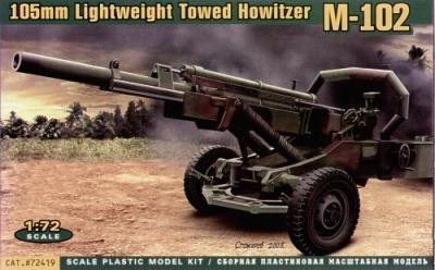 72419 - M102 US 105mm howitzer 1/72