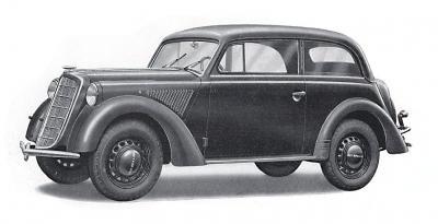72506 - Olympia 2 door saloon staff car, model 1937 Stabswagen 1/72
