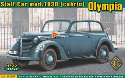 72507 -Olympia (cabrio) staff car, model 1938 1/72