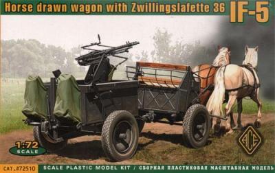 72510 - If. 5 horse drawn wagon (Type 36) with Zwillingslafette 36 trailer-mounted machine gun 1/72