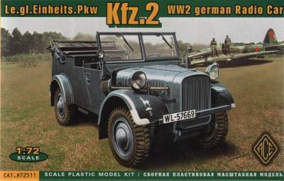 72511 - Le.Gl. Einherts PKW Kfz.2 - Radio car 1/72
