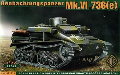72519 - BeoPanzerkampwagen Mk.VI(e) Funk- und Beobachtungspanzer auf Fahrgestell Panzerkampwagen Mk.VI€ 1/72