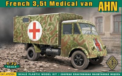 72524 - French 3,5t truck AHN Ambulance 1/72