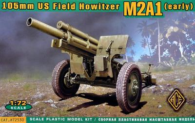 72530 - US 105mm howitzer M2A1 w/M2 gun carriage 1/72