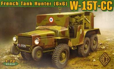 72537 - W-15T-CC French tank hunter (6x6) 1/72