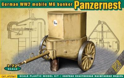 72561 - WWII German mobile Machine Gun bunker Panzernest 1/72