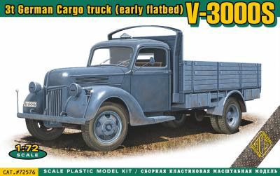 72576 - V-3000S 3t German cargo truck (early flatbed) 1/72