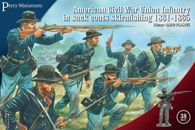 ACW120 - American Civil War Union Infantry in sack coats Skirmishing 28mm