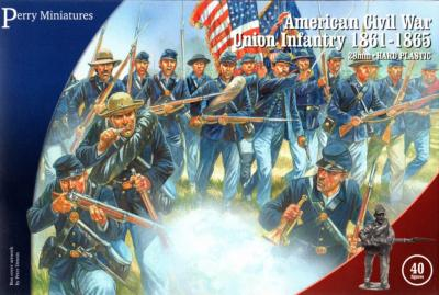 ACW115 - American Civil War Union Infantry 28mm