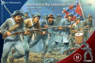 ACW80 - American Civil War Confederate Infantry 28mm