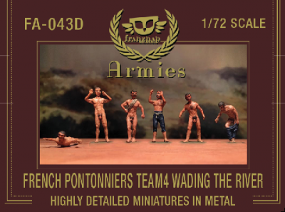 FA-043D  FRENCH PONTONNIERS TEAM4 : WADING THE RIVER metal 1/72