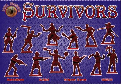 72038 - Survivors (antizombies) 1/72