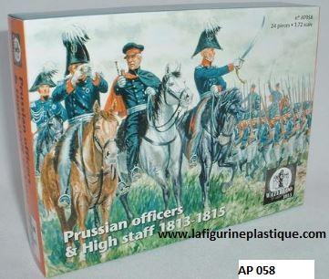 AP058 NAPOLEONIC PRUSSIAN OFFICERS & STAFF 1813-1815. 1/72