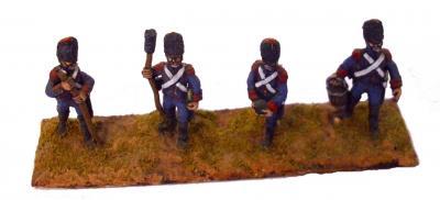 ART1 - French Guard Foot Artillery Crew (x4) 1/72