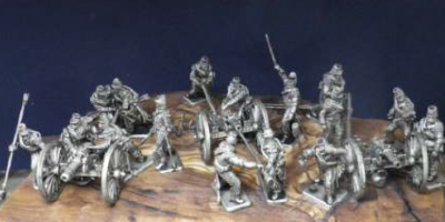 French Horse Artillery, 3 guns and 16 figures 1/72