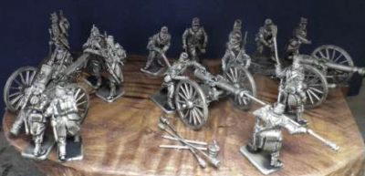 French Foot Artillery, 3 guns and 15 figures 1/72