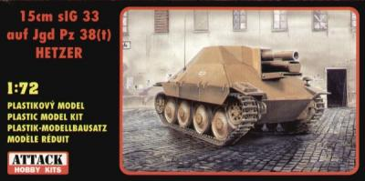 72810 - 15cm sIG 33 auf Jagd Hetzer 1/72