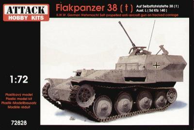 72828 - Flakpanzer 38(t) Auf Selbstfahrlafette 38(t) Ausf.L Sd.Kfz.140 1/72