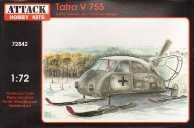 72842 - Tatra V 755 WWII Wehrmacht aerosledge 1/72
