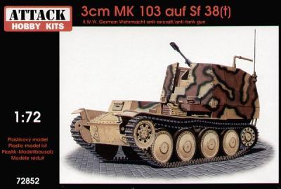 72852 - Mk.103 auf SF 38(t) 1/72