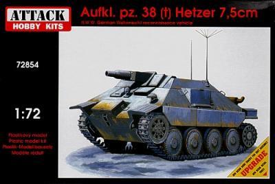72854 - Aufklarungspanzer 38(t) Hetzer 87.5 cm 1/72