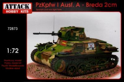 72873 - Pz.Kpfw.I Ausf.A - Breda 20mm 1/72