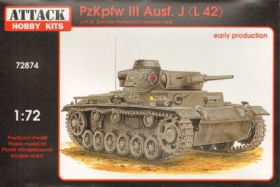 72874 - Pz.Kpfw.III Ausf.J./ L42 Early production 1/72