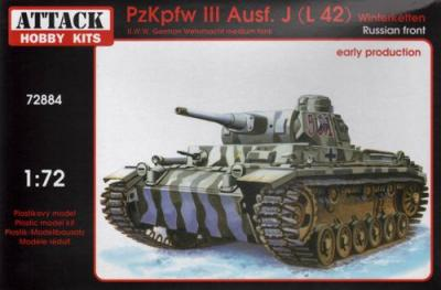 72884 - Pz.Kpfw.III Ausf.J (L 42) Winterketten Russian Front Early prod. 1/72