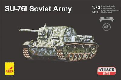 72890 - SU-76I Soviet Army with metal gun barrel 1/72