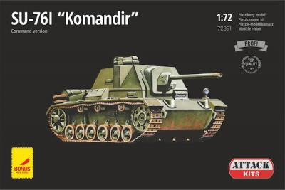 72891 - SU-76I Komandir (Beob.) with metal gun barrel 1/72