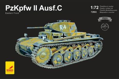 72893 - Pz.Kpfw.II Ausf.C Eastern Front with metal gun barrel 1/72