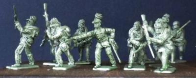 Autriche Jaegers chargeant, 12 1/72 figures