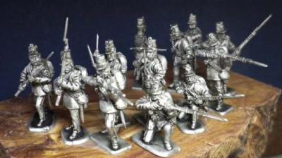 Autriche Inf. ligne tirant , 12 1/72 figurines