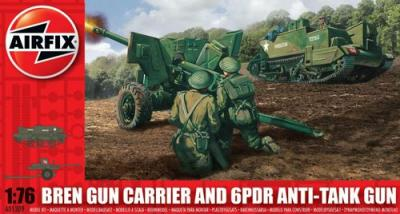01309 - Bren Gun Carrier and 6 Pdr Anti Gun Tank 1/76