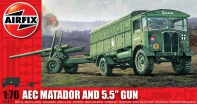 01314 - Matador and 5.5 Gun 1/76