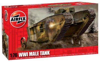 01315 - WWI British 'Male' Tank Mk.I 1/76