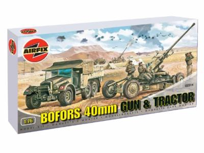 02314 - 40mm Bofors Gun and Tractor 1/76