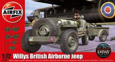 02339 - Willys Jeep, Trailer & 6 Pdr Gun 1/72