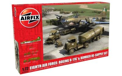 12010 - Eighth Air Force Boeing B-17G Flying Fortress anD bomber re-supply Set 1/72