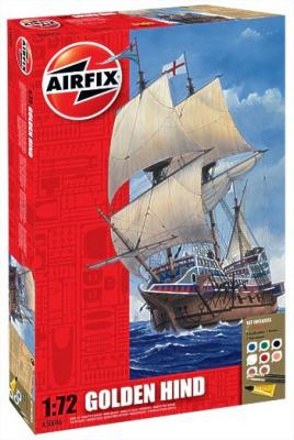 50046 - Golden Hind. Set includes 8 Acrylic paints, 2 Brushes and 2 Poly cements 1/72