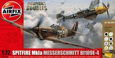 50135 - Supermarine Spitfire Mk.IA / Messerschmitt Bf 109E Dogfight Double Starter Set 1/72
