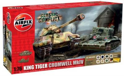 50142 - Classic Conflict Cromwell/King Tiger Sd.Kfz.182 1/76