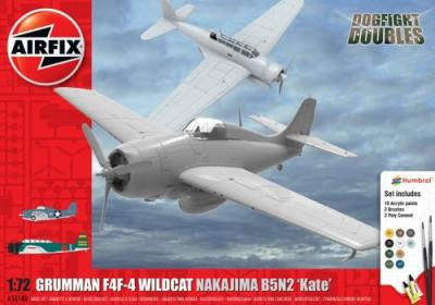 50169 - Nakajima B5N2 'Kate' & Grumman Wildcat F4F-4 Dogfight Double Gift Set 1/72