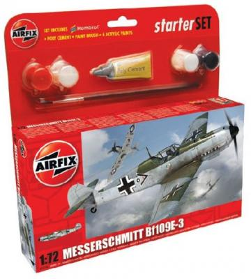 55106 - Messerschmitt Bf 109E-3 Starter Set includes 1/72