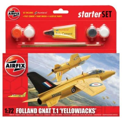 55112 - Folland Gnat T.1 Yellow Jacks Starter Set 1/72