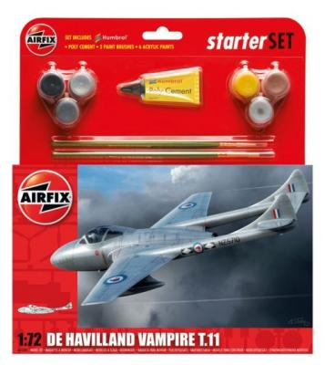 55204 - de Havilland Vampire T.11 Starter Set 1/72