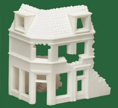75003 - European Ruined Corner House 1/76