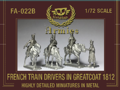 FA-022B : French Train Drivers in Greatcoat 1812 1/72