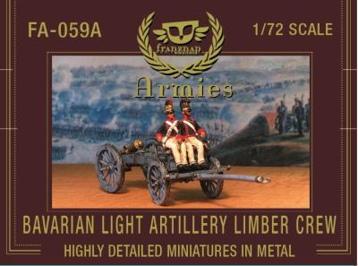 FA-059A Bavarian Light Artillery Limber Crew 1/72